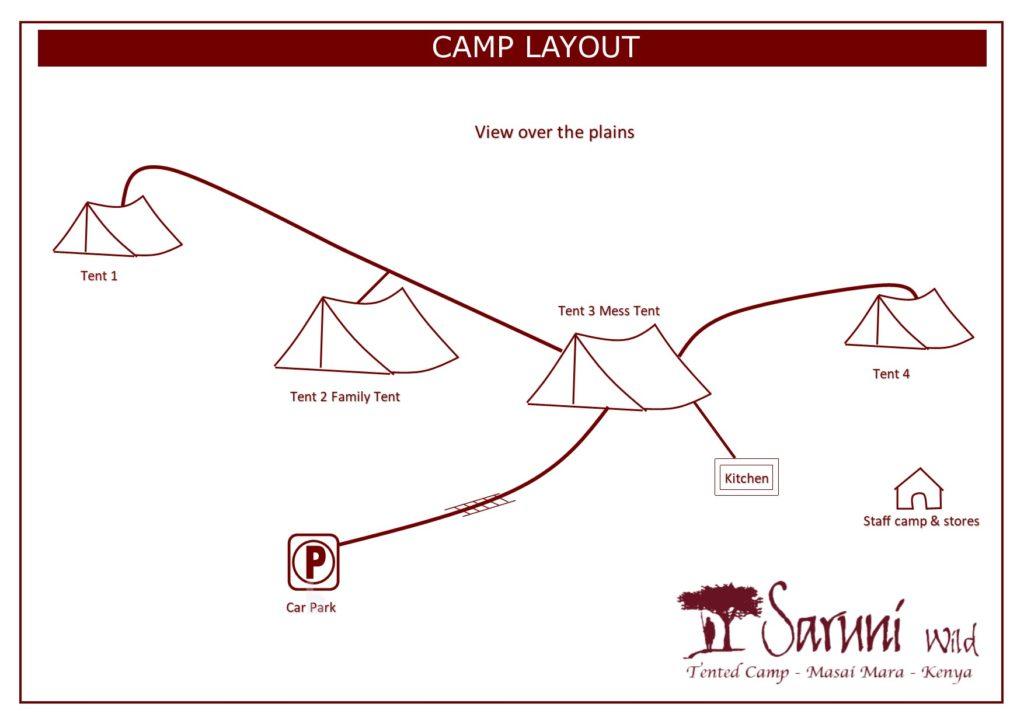 SARUNI WILD CAMP LAYOUT