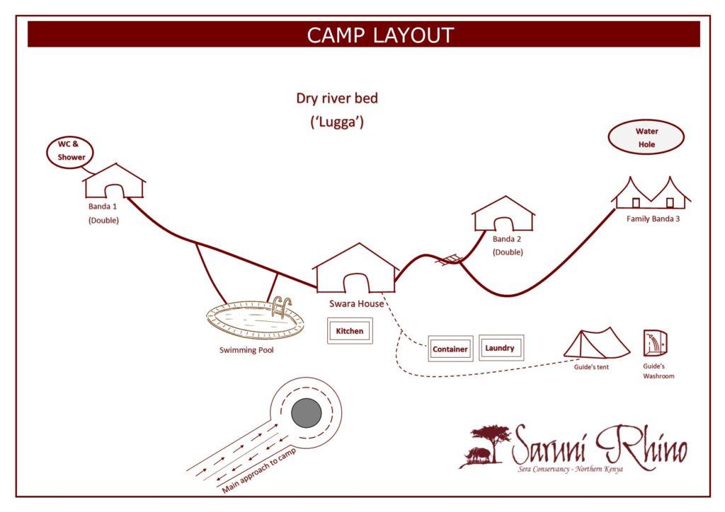 SARUNI RHINO CAMP LAYOUT