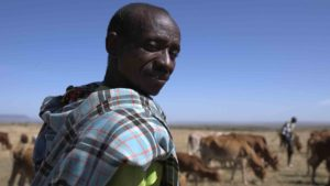 Maasai herdsman by Yoga for Nature