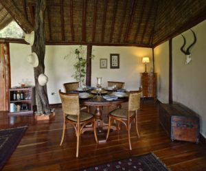Private dining in the Family Villa