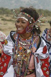 Radiant Maasai style bride