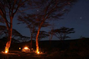 Saruni bush dinner in the Mara