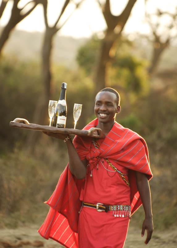 Celebrating in the bush