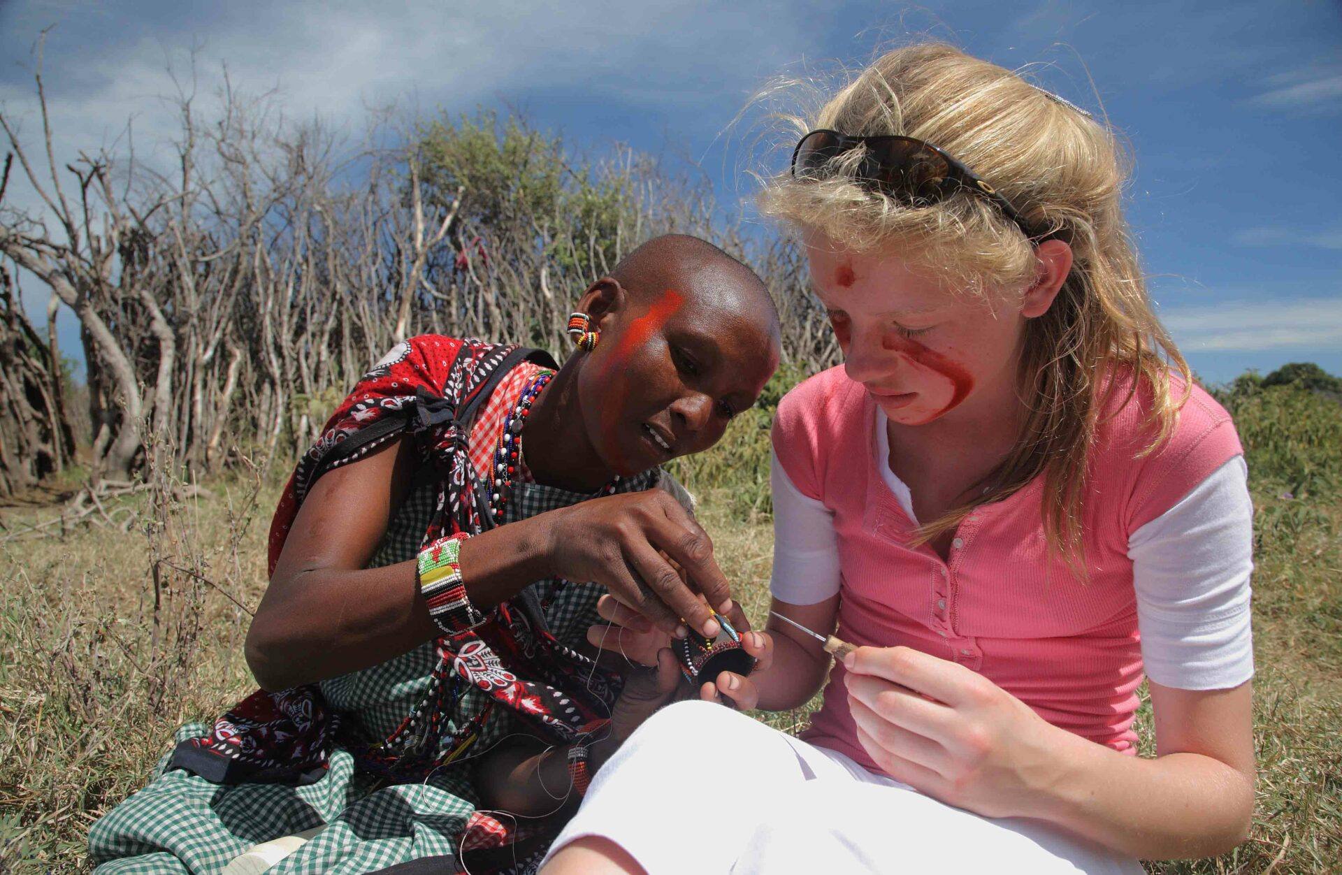 Learn how to bead with the Maasai