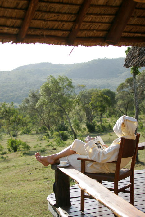 Relaxing in the Maasai Wellbeing Space