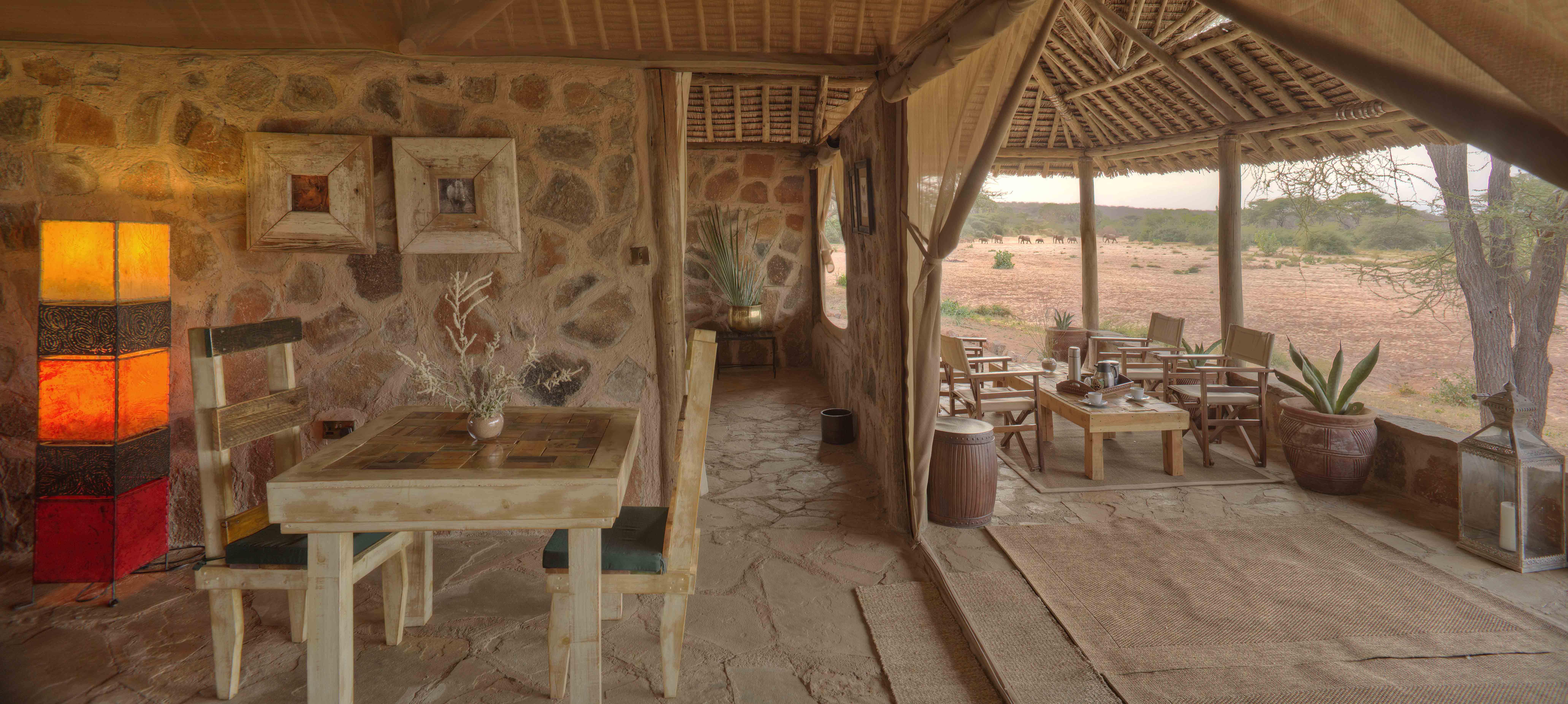 Saruni Rhino Family Banda Lounge & Verandah