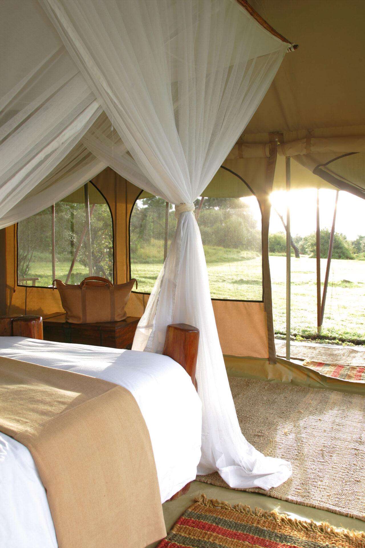 Saruni Wild double tent interior