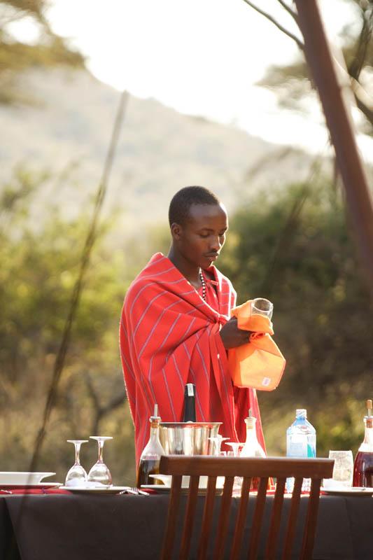 Saruni Wild friendly Maasai waiter