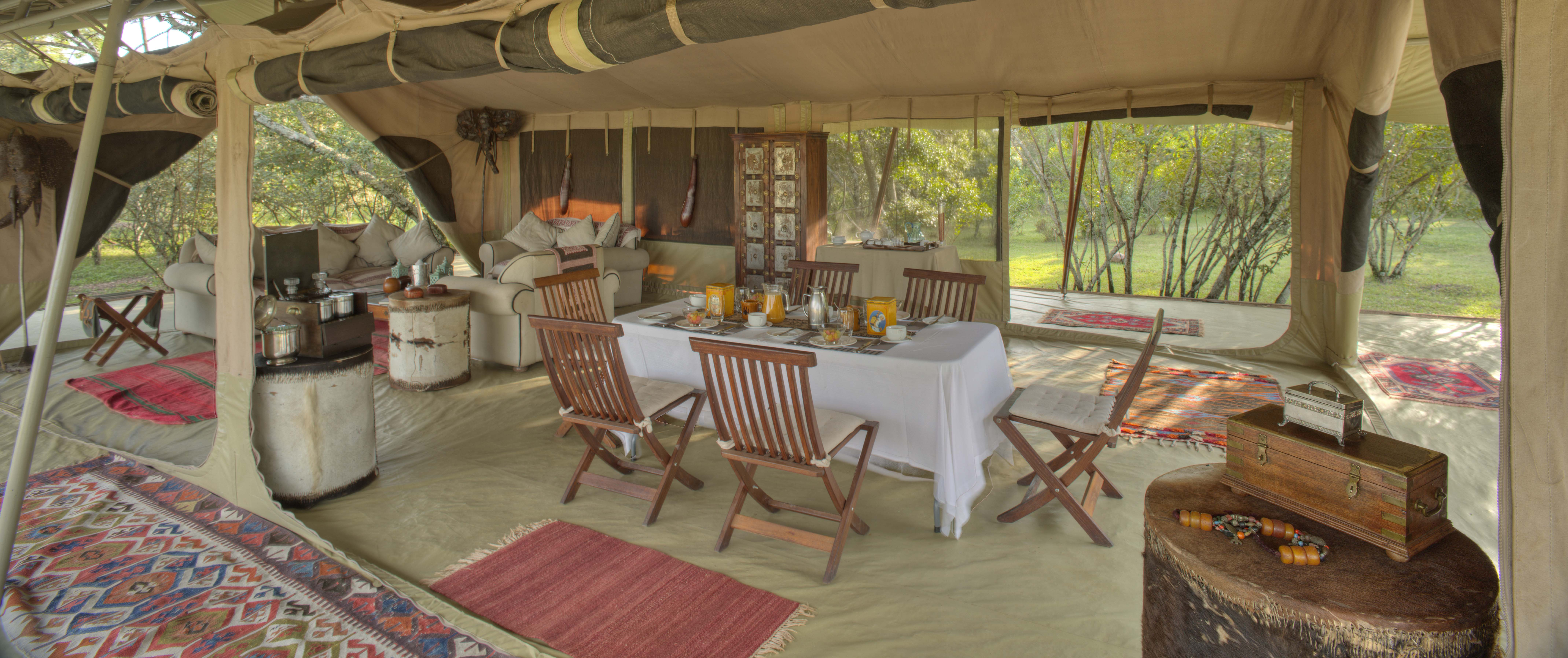 Saruni Wild - the common area for lounging and dining