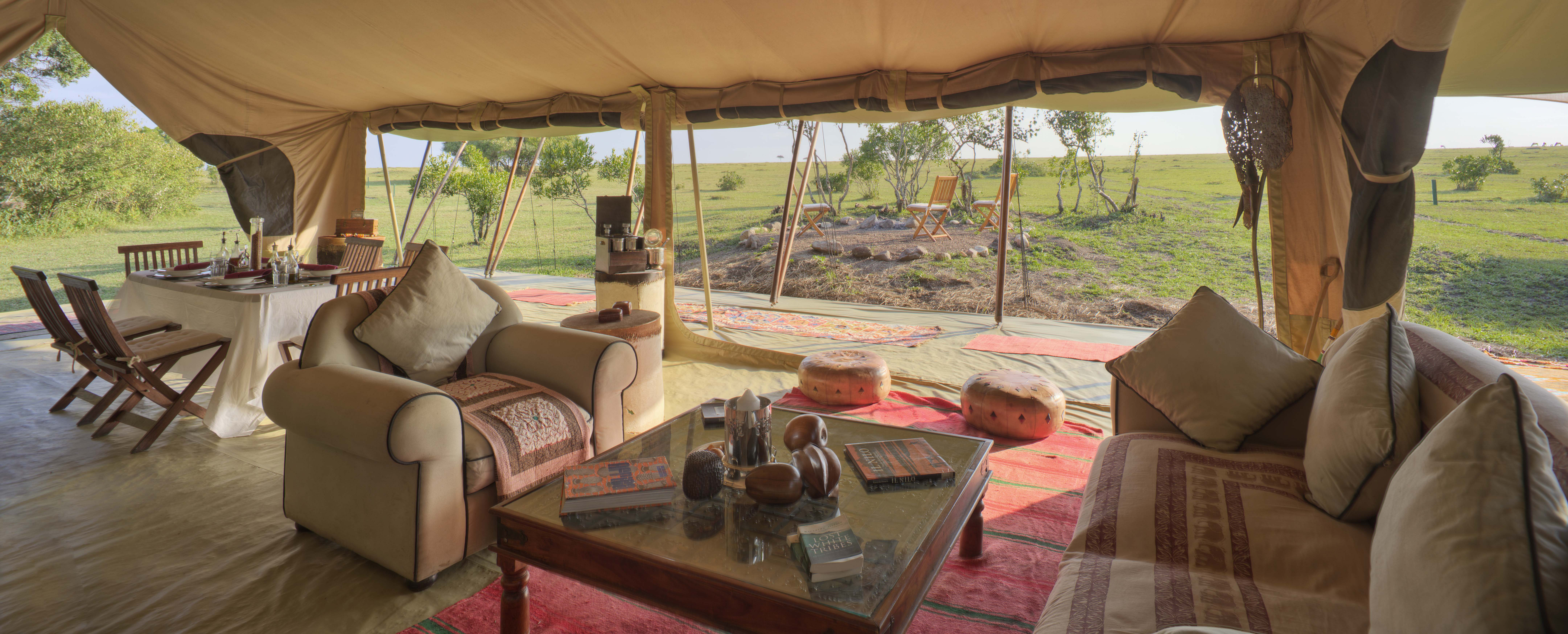 Saruni Wild - the dining area has wonderful views of the plains
