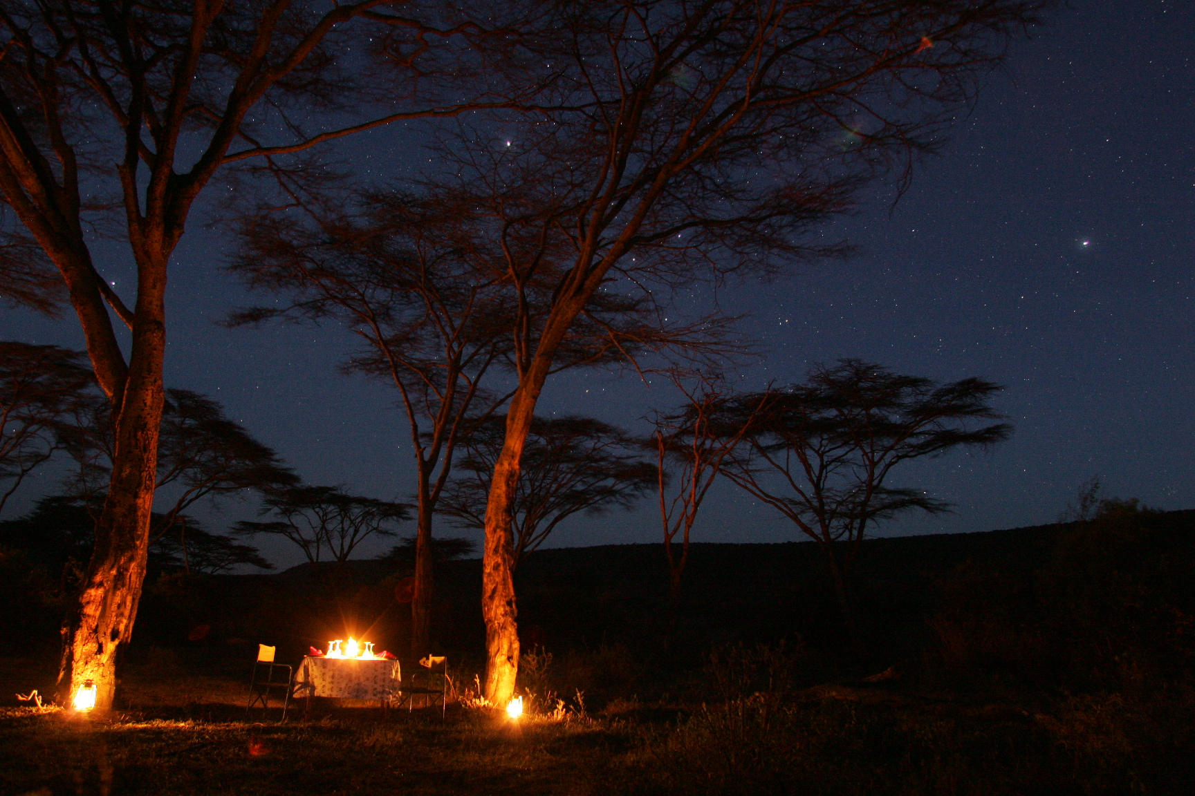 Saruni bush dinner in the Mara