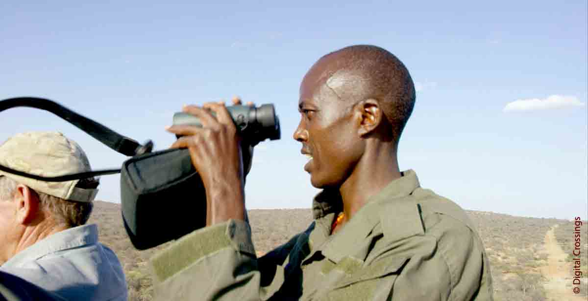 Sera Ranger searching for rhino Image Credit Digital Crossings